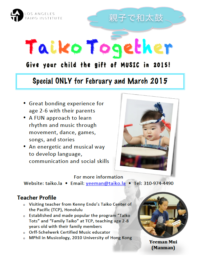 Taiko Together Flyer